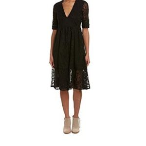 Free people black lace mountain laurel dress